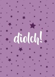 Diolch - Sêr porffor / Thank you - Purple stars
